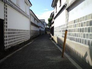 裏道にまわってみた。まさに白壁。