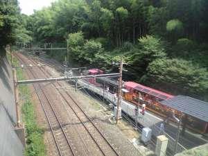 トロッコ嵐山駅。